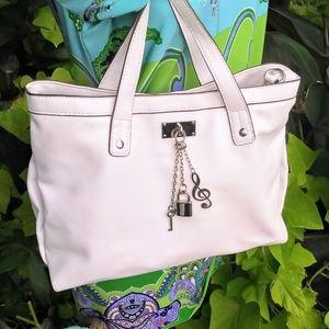 Vintage White faux leather Carlos Santana purse